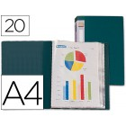 Capa catalogo liderpapel a4 com 20 bolsas. verde