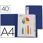 Capa catalogo liderpapel a4 com 40 bolsas. azul