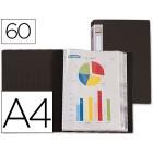 Capa catalogo liderpapel a4 com 60 bolsas. preto