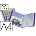 Capa catalogo liderpapel a4 com 20 bolsas. azul. com lombada personalizavel