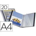 Capa catalogo liderpapel a4 com 20 bolsas. preto. com lombada personalizavel