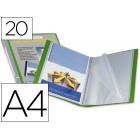 Capa catalogo liderpapel a4 com 20 bolsas. verde. com lombada personalizavel