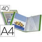 Capa catalogo liderpapel a4 com 40 bolsas. verde. com lombada personalizavel