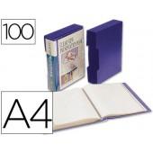 Capa catalogo liderpapel a4 com 100 bolsas. azul