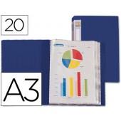 Capa catalogo beautone a3 com 20 bolsas. azul opaco