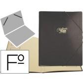 Pasta classificadora cartao compacto saro folio preta -12 departamentos