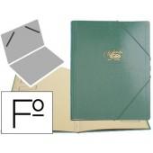 Pasta classificadora cartao compacto saro folio verde -12 departamentos