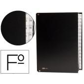 Pasta classificadora cartao compacto pardo folio 31 departamentos numericos preto