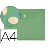Bolsa porta documentos liderpapel. a4. verde