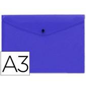 Bolsa porta documentos liderpapel. com mola. a3. azul
