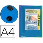 Bolsa porta documentos liderpapel com mola. a4. cores sortidas