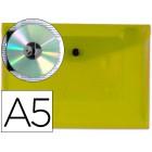 Bolsa porta documentos liderpapel. com mola. a5. amarelo
