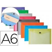 Bolsa porta documentos liderpapel. com mola. a6. 12 cores sortidas