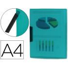 Bolsa dossier liderpapel com clip lateral. a4. verde