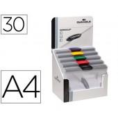 Bolsa dossier swingclip dosier clip lateral e giratoria din a4 capacidade 30f -cores sortidas