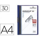 Pasta dossier durable. c/clip lateral. a4. 30 fls. azul escuro