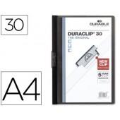 Pasta dossier durable. c/clip lateral. a4. 30 fls. preto