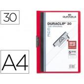 Pasta dossier durable. c/clip lateral. a4. 30 fls. vermelho
