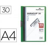 Pasta dossier durable. c/clip lateral. a4. 30 fls. verde