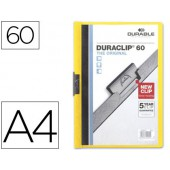Pasta dossier durable. c/clip lateral. a4. 60 fls. amarelo