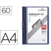 Pasta dossier durable. c/clip lateral. a4. 60 fls. azul escuro