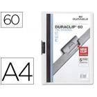 Pasta dossier durable. c/clip lateral. a4. 60 fls. branco
