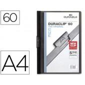 Pasta dossier durable. c/clip lateral. a4. 60 fls. preto