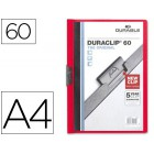 Pasta dossier durable. c/clip lateral. a4. 60 fls. vermelho