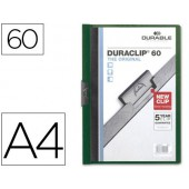 Pasta dossier durable. c/clip lateral. a4. 60 fls. verde escuro