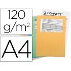 Classificador cartolina q-connect cores sortidas com janela transparente 120 gr embalagem de 25 unidades