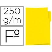 Classificador de cartolina gio folio pestana esquerda 250 g/m2 amarelo
