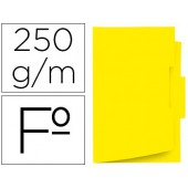 Classificador de cartolina gio folio pestana central 250 g/m2 amarelo
