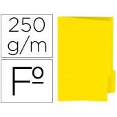 Classificador de cartolina gio folio pestana direita 250 g/m2 amarelo