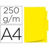 Classificador de cartolina gio din a4 pestana central 250 g/m2 amarelo