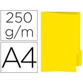 Classificador de cartolina gio din a4 pestana direita 250 g/m2 amarelo