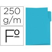 Classificador de cartolina gio folio pestana esquerda 250 g/m2 azul