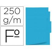 Classificador de cartolina gio folio pestana central 250 g/m2 azul