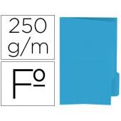 Classificador de cartolina gio folio pestana direita 250 g/m2 azul