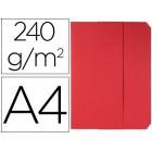 Classificador cartolinas vip fast-paperflow folio com abas pack de 50 cor vermelho