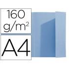 Classificador exacompta a4 azul 160g/m2 com aba interior