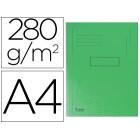 Classificador cartolina reciclada exacompta a4 verde 280g/m2com 2 abas interior