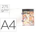 Classificador plastificado gio din a4 branco com cobre agrafes 275 g/m²