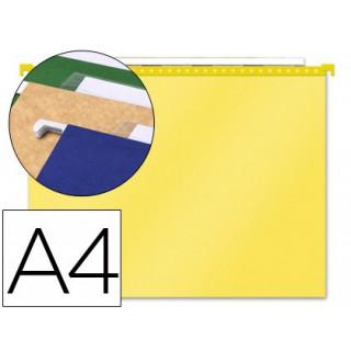 Capas de suspensao paperflow em polipropileno transparente. amarelo